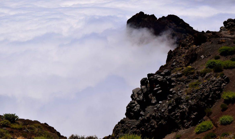 Blick von ganz oben. Über den Wolken von La Palma auf dem Roque des los Muchachos.