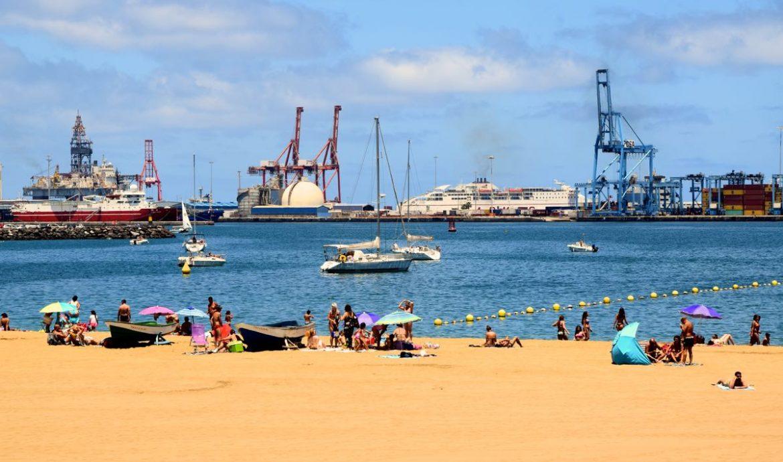 Der Stadtstrand am Puerto de la Luz, Las Palmas
