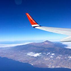 Mit dem Flieger nach Teneriffa.