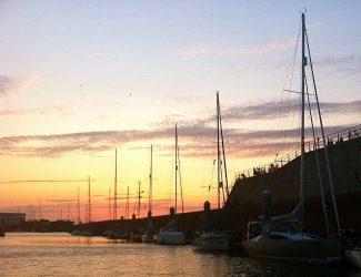 Abendstimmung im Hafen.