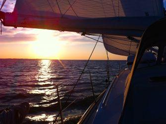Sonnenaufgang vor Westfriesland.