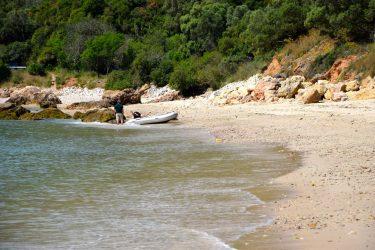 Am Strand von Arrabida.