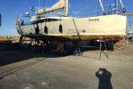 TinLIzzy, in der Werft auf dem Bock.