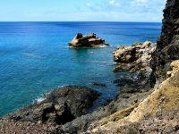 Hier mischen sich Sandstein, Lava und (?) Basalt... (Geologe müsste man sein)