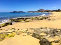 Unser Weg zum Einkaufen: Der Strand von Porto Santo.