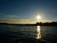 Sonnenuntergang in der Doca Bay.