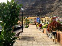 Strandpromenade, Puerto Tazacorte, La Palma. Ziemlich leer hier, es ist Nebensaison ....