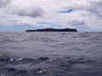 Insel mit zwei Bergen. Die Ilha Selvagem mit dem Pico da Atalaia (164 m) und dem Pico dos Tornezelos (136 m), von Norden her angesteuert.
