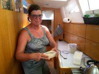 Auch unterwegs wird Brot gebacken - mit Sauerteig, versteht sich.