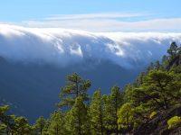 Cascada de Nubes, Wolkenwasserfall, in der Caldeira de Taburiente, La Palma.