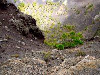 Blick in den Krater.