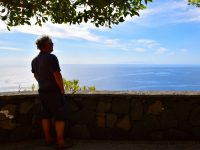 Blick nach Süden von Santa Cruz de La Palma. La Gomera ist zu sehen!