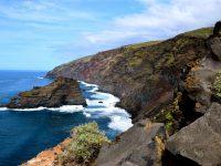 Kein Strand weit und breit. Im Norden bei Santo Domingo, La Palma.