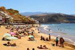 So, wie man sich Gran Canaria vorstellt. Playa des las Canteras, Las Palmas