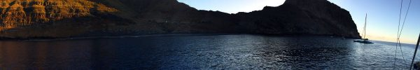 Die Bahia de Antequera. Nach Sonnenuntergang einsam.