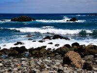 Felsstrand in der Bahia de Bodegas.