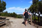 Auf dem Gipfel des Garajonay (1487m). Am Horizont sieht man La Palma.