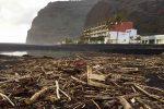 Strand von Tazacorte, nach stürmischem Wetter. Wenige Tage später war alles aufgeräumt.