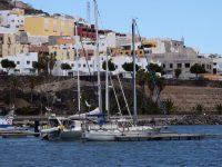 TinLizzy im Hafen von Gran Tarajal.