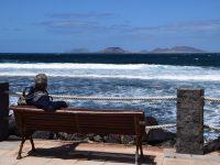 Dort hinten liegt unser nächstes Reiseziel: Isla Graciosa.