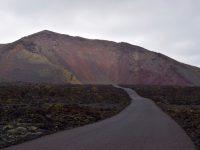 "Auf dem Weg in den Naturpark ""Timanfaya"" zu den Vulkanen."