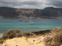 Ankerfeld am Playa de Francesa, La Graciosa