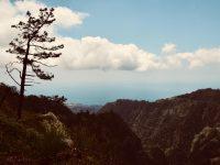 Aussicht auf den Ozean. Nähe Tal der Nonnen, Madeira.