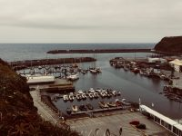 Der Hafen von Vila do Porto, Santa Maria