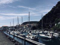Mein neuer Hafen. Marina Velas auf Sao Jorge, Azoren.