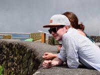Felix und Lara, oben auf dem Berg. Terceira.