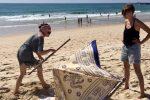 Baumaßnahmen am Strand von Culatra. Ob das hält?