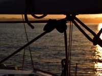 Landfall bei Porto - dem Sonnenaufgang entgegen.