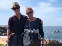 Ein letzter Spaziergang am Strand der Douro-Mündung bei Porto
