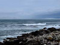Kaum zu sehen: Die Isla Cies vor Vigo.