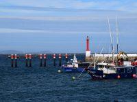 Hier wird noch gefischt. Im der Bucht von Aldan.