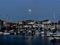 Monduntergang in Portonovo. Ganz früh am Morgen.....