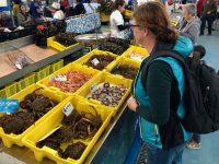 Beim Einkaufen im Mercado von Portonovo.