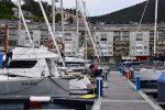 TinLizzy in der Marina von Viveiro.