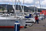 TinLizzy in der Marina von Combarro.