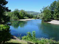 Flusslandschaften in Asturien. Am Rio Deva.