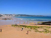 Am Strand von Santander.