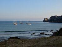 TinLizzy in der Bucht von Pen Hir.