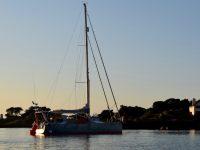 In der Bucht von Port Corderie. TinLizzy schwimmt wieder.