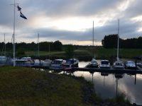 Kleine Marina in der Schelde.