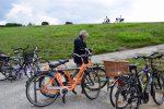 Fahradtour in Cuxhaven am Deich.