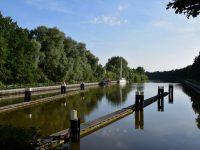 Im Gieselau-Kanal. Ein richtig guter Zwischenstop für die Kanalpassage.