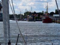 Greifswald. Die Einfahrt in den Ryk.