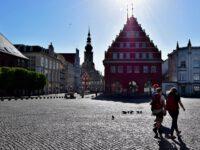 Greifswald. Der Marktplatz.