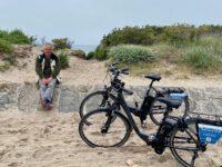 Fahrradtour an der Rügener Küste. Kap Arkona ist das Ziel.