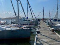Im Krumminer Hafen.
